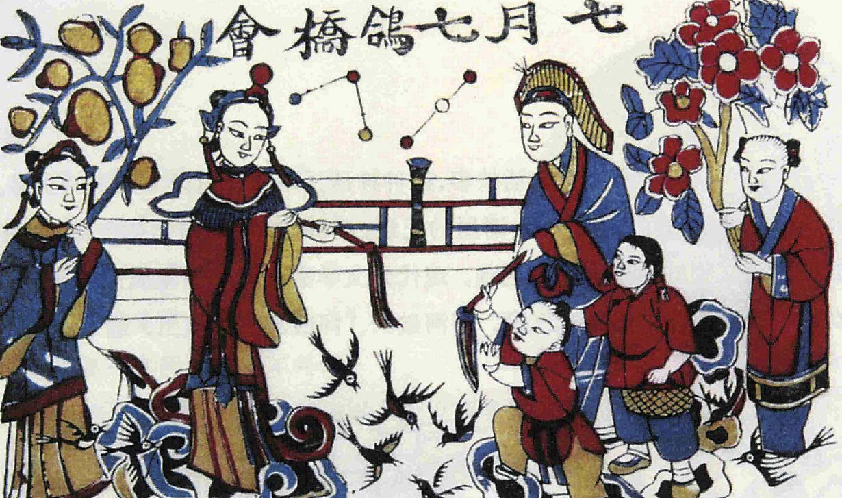 Painting depicting the love story of Niu Lang and Zhi Nu. Photo: CFP