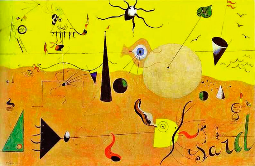 Work by Spanish artist Joan Miró (1893-1983)