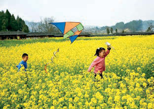 Qingming Customs. FLYING KITES