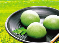 Qingming Customs. EATING GREEN RICE BALLS