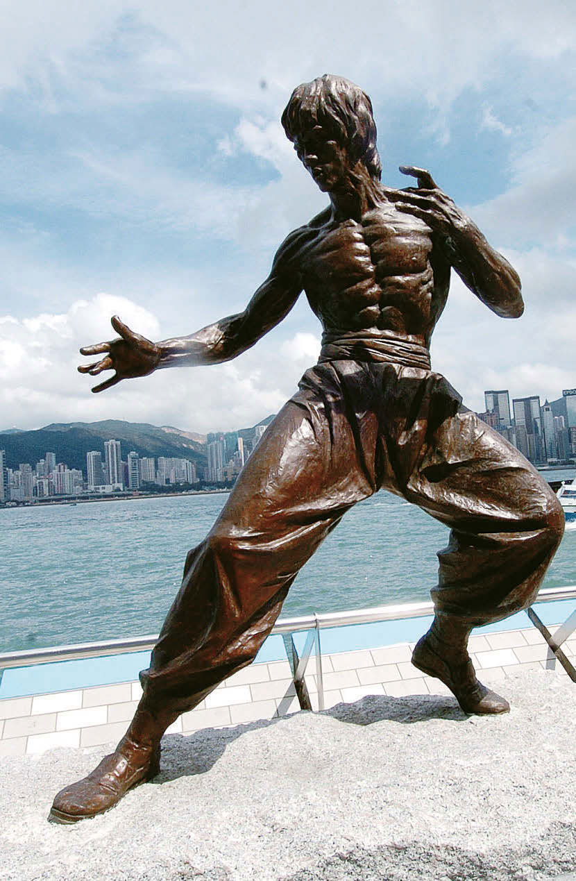 Statue of Bruce Lee.