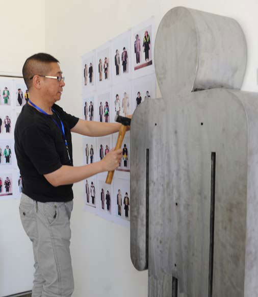 Artists take pride in their work. It is in this studio that Zhang created most of his art work.