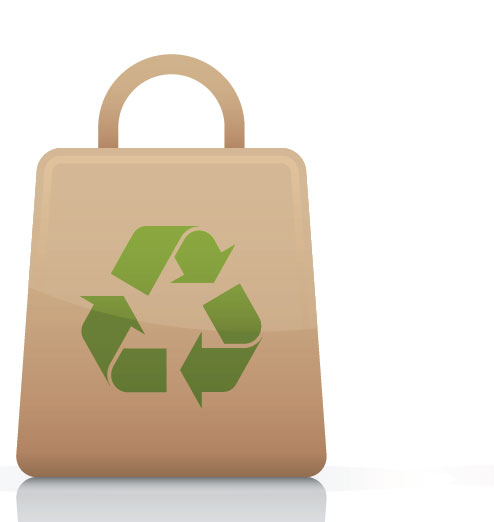 Using one less plastic bag will reduce emission by 0.1g carbon dioxide.