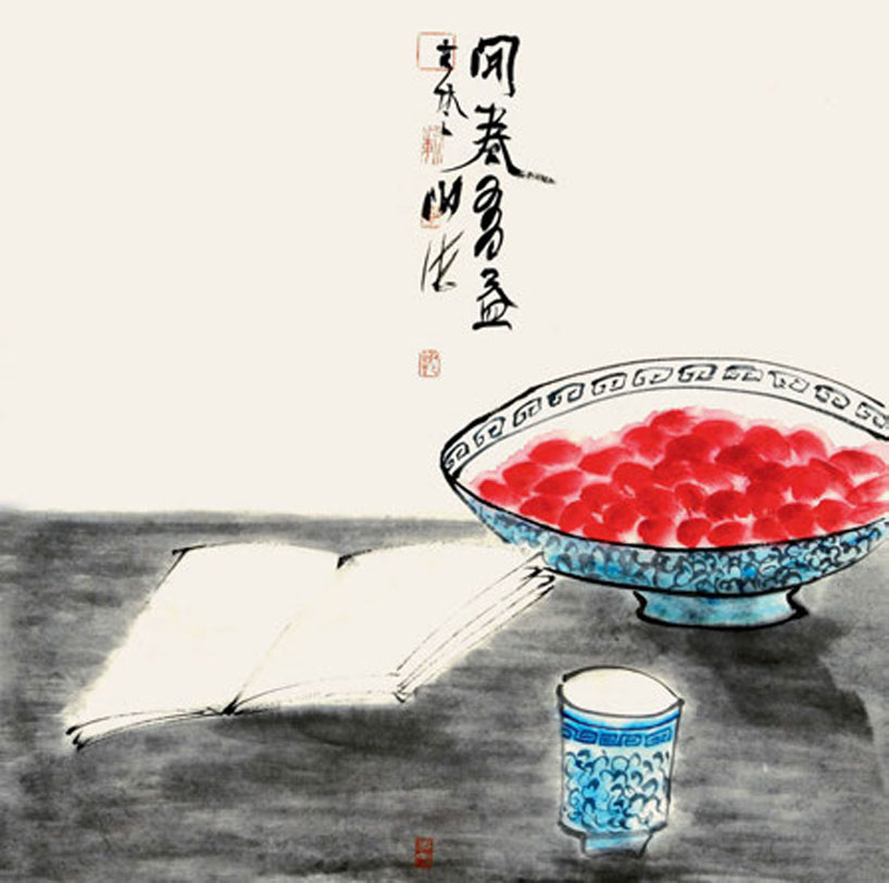 Chinese Idioms. Illustration by Xie Hai