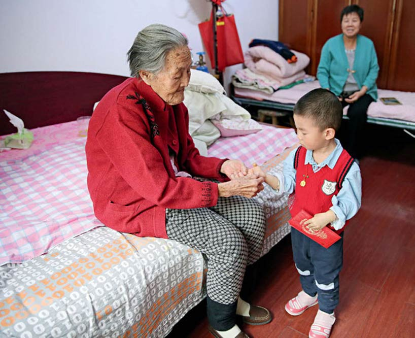 The Chinese ideal family: Four generations under one roof