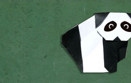 giant panda paper folding